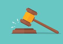 Judje Hammer Icon Law Gavel. A...