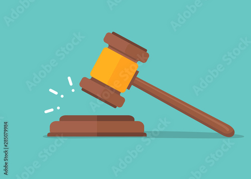 Obraz Judje hammer icon law gavel. Auction court hammer bid authority concept symbol - fototapety do salonu
