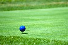 Blue Golf Tee Marker