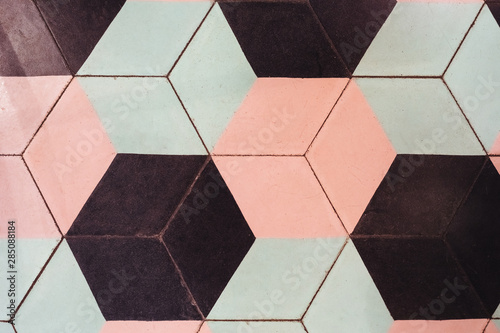 Fototapety, obrazy: Vintage background with hexagonal shapes
