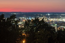 Downtown Birmingham, AL And UAB At Night