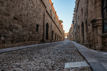 Medieval Avenue Of The Knights...