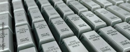 Papel de parede Viele Silberbarren