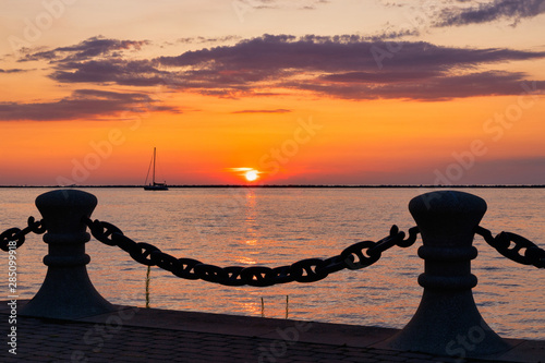 Sunset on Lake Erie in the Great Lakes Region