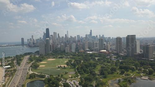 Keuken foto achterwand Verenigde Staten aerial view of city