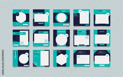 Modern promotion square web banner for social media post template Obraz na płótnie