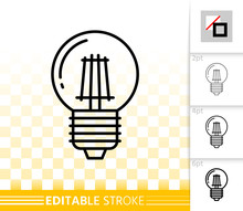 Light Bulb Glass Lamp Simple T...