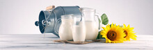 A Jug Of Milk And Glass Of Mil...