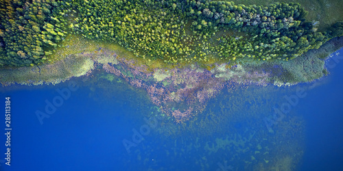 Aerial landscape from the drone - coastline