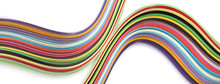 Abstract Color Wave Rainbow Strip Paper Background.