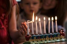 Hanukkah: Siblings Lighting Ho...