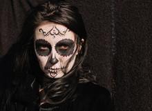 Halloween Portrait Of Woman Wi...