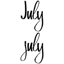 Handwritten Name Of Month July