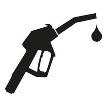 Black Fuel Nozzle Icon With A ...