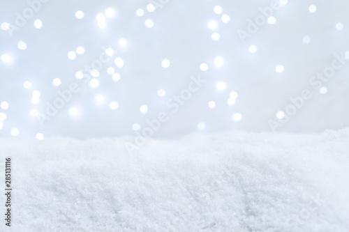 Fototapeta White christmas with snow obraz na płótnie