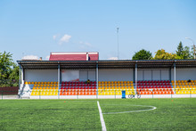 Many Yellow And Red Seats In A...