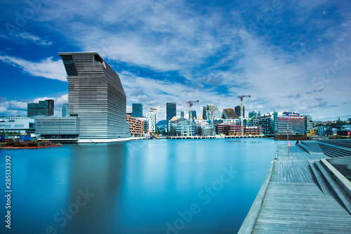 Photo  View from Sørenga in Oslo - downtown by the sea