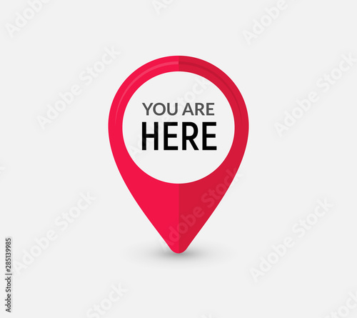 Cuadros en Lienzo You are here sign icon mark