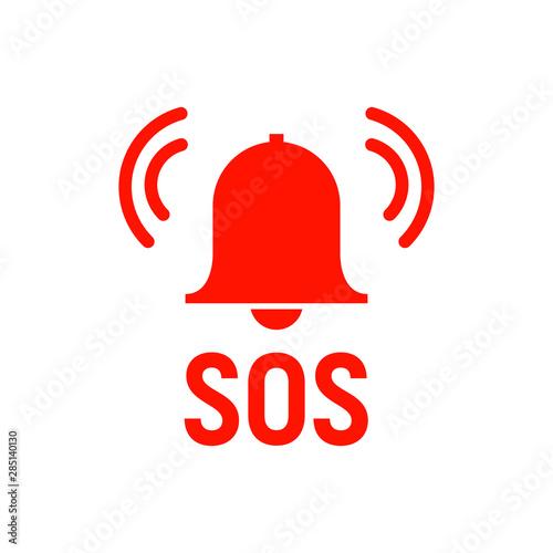 Sos icon emergency alarm button Tapéta, Fotótapéta