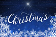 Blue Christmas winter greeting card background