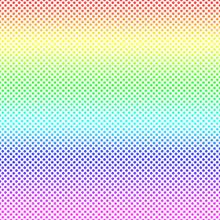 Rainbow Polka Dot Seamless Pattern Background