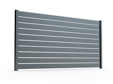 Fence Panel Isolated On White,...