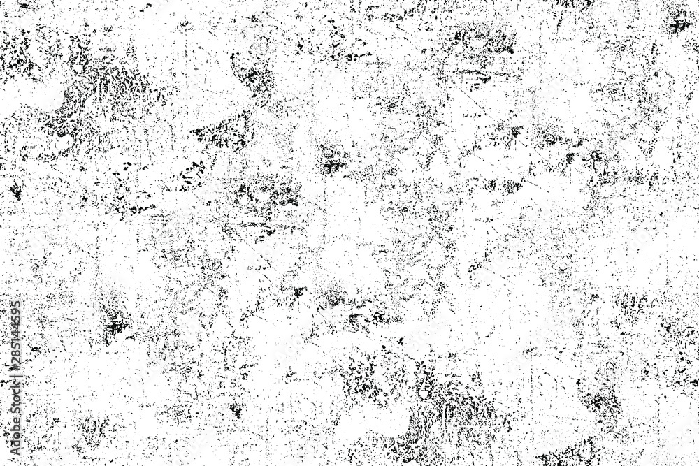 Fototapety, obrazy: Grunge background black and white. Dark abstract monochrome texture. Pattern of scratches, chipping, scuffs