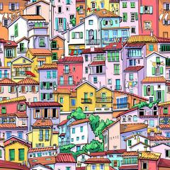 Fototapeta Miasta Menton Old Town, France