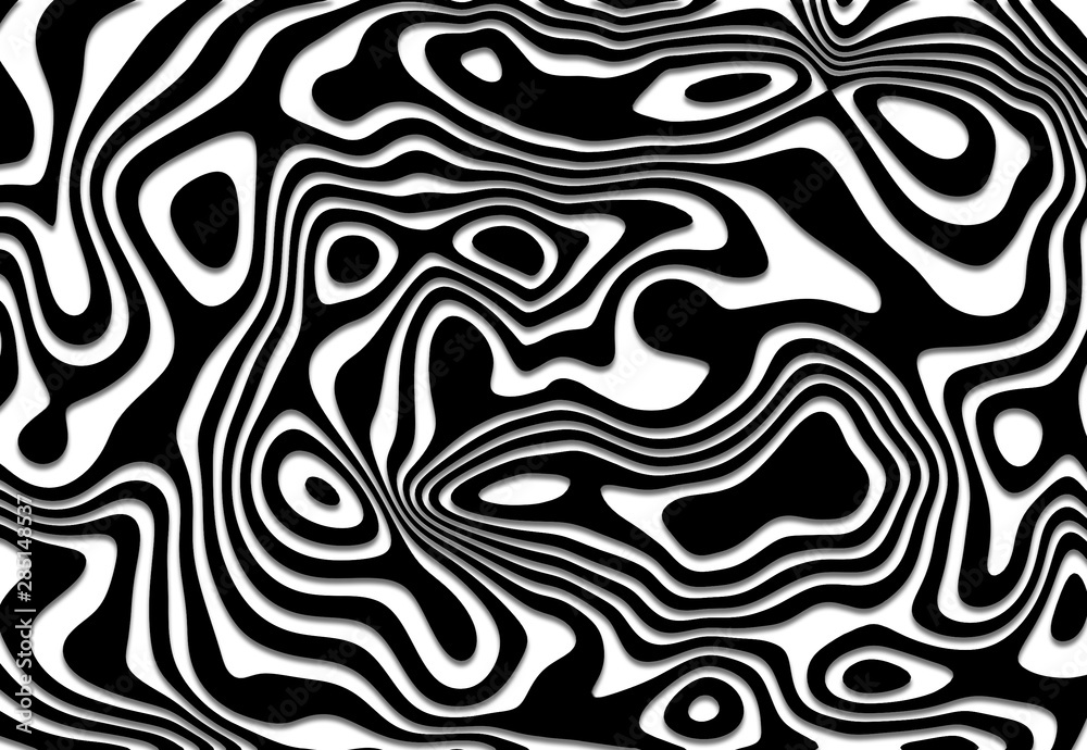 Fototapeta paper Black and white striped abstract background