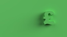 Pound Sterling Lira Sign Green...