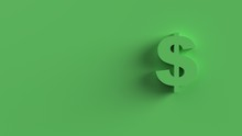 Dollar Sign Green Isolated 3d Render With Green Background