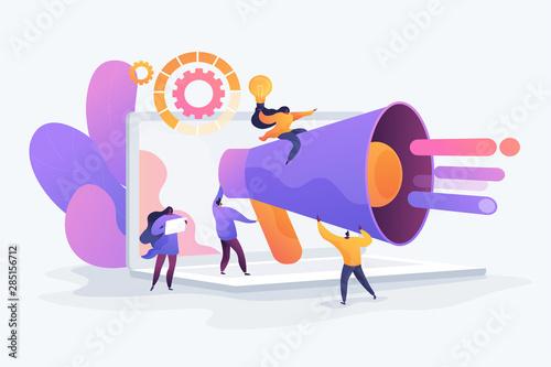 Photo Customer attraction, social media promotion