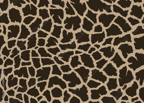 Giraffe skin seamless pattern design Wallpaper Mural