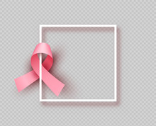Pink Breast Cancer Ribbon Isol...