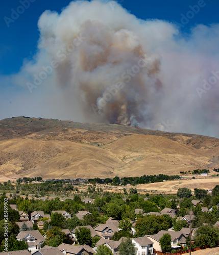 Wildfire in foothills near Boise Idaho #285169902