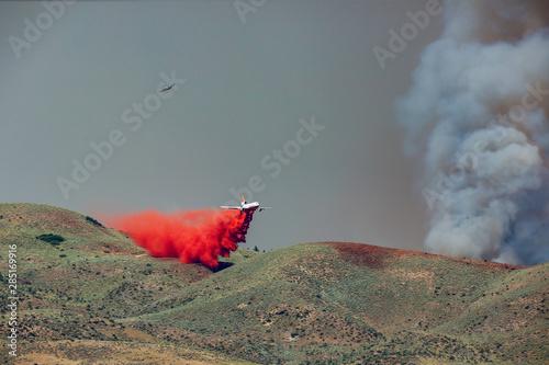 Wildfire in foothills near Boise Idaho #285169916