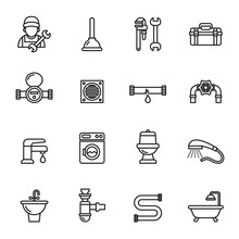 Plumbing Objects And Tools Ico...