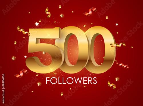 Papel de parede  500 Followers Background Template Vector Illustration