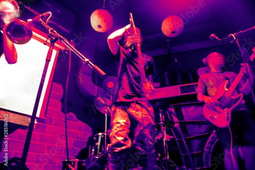 Abstract background with city night club live music topic - 285186162
