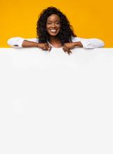 Black Pretty Girl Leaning On White Board