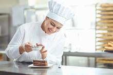 Confectioner Decorating Chocol...