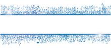 Blue Musical Notes Frame Isola...