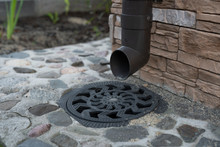 Drainage In A Private House With Access To The Sewer