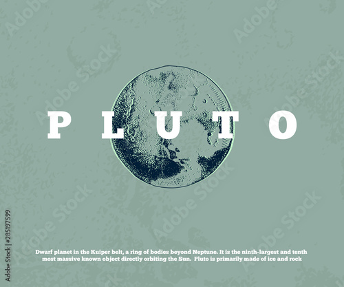 Fotomural Hand drawn planet Pluto