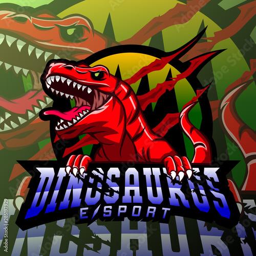 Dinosaur sport mascot logo design #285197929