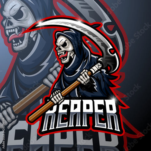 Skull ripper logo mascot design #285198104