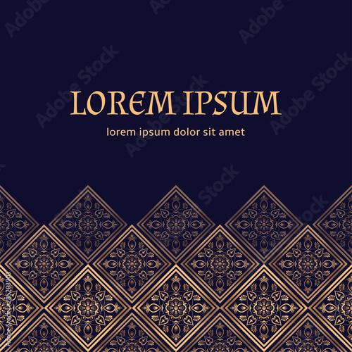 Luxury Background Royal Pattern Vector Arabesque Tile
