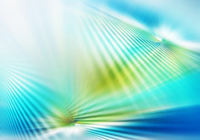 Abstract Background Of Light With Stripes Directed From Center Outwards In Blue, Green And White Colour