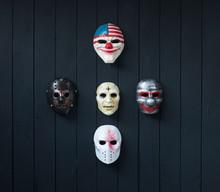 Maniac Mask Isolated On Black ...