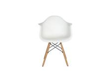 Modern White Plastic Chair Wit...